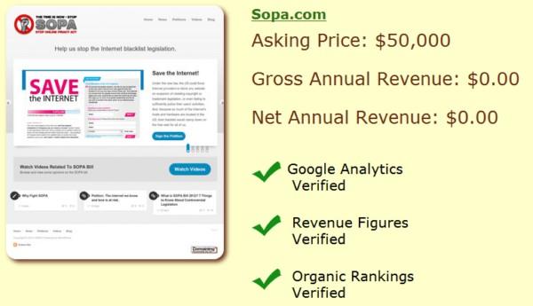 домен SOPA.COM