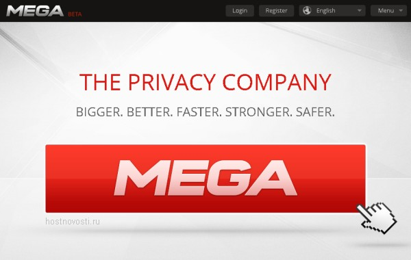 Обновлённый Megaupload в форме Mega