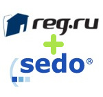 сотрудничество Reg.Ru и Sedo