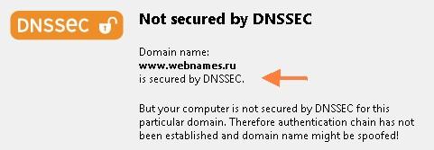 проверка DNSSEC у домена webnames.ru