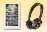 электронная книжка или наушники в подарок